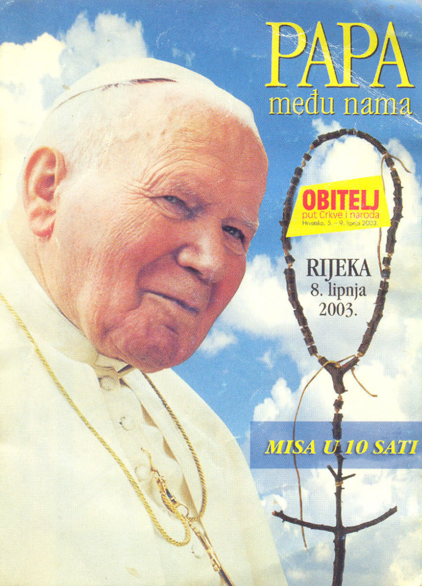 ivan pavao drugi letak dolazak pape u Rijeku papa među nama