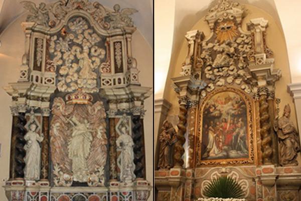 oltar svetog ivana nepomuka i oltar svetog nikole svetiste trsat