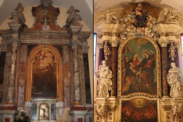 oltar svetog antuna padovanskog i oltar svetog petra apostola