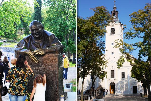 papa ivan pavao drugi i svetiste barokni zvonik