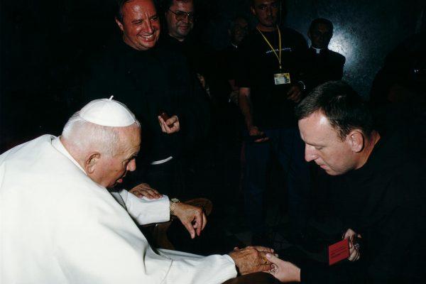 svetiste trsat sjecanje na posjet ivana pavla II trsat rijeka 2003 moli za nas fra matija koren fra krešimir palošika