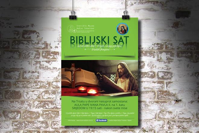 plakat obavijest o biblijskom satu svetišta trsat