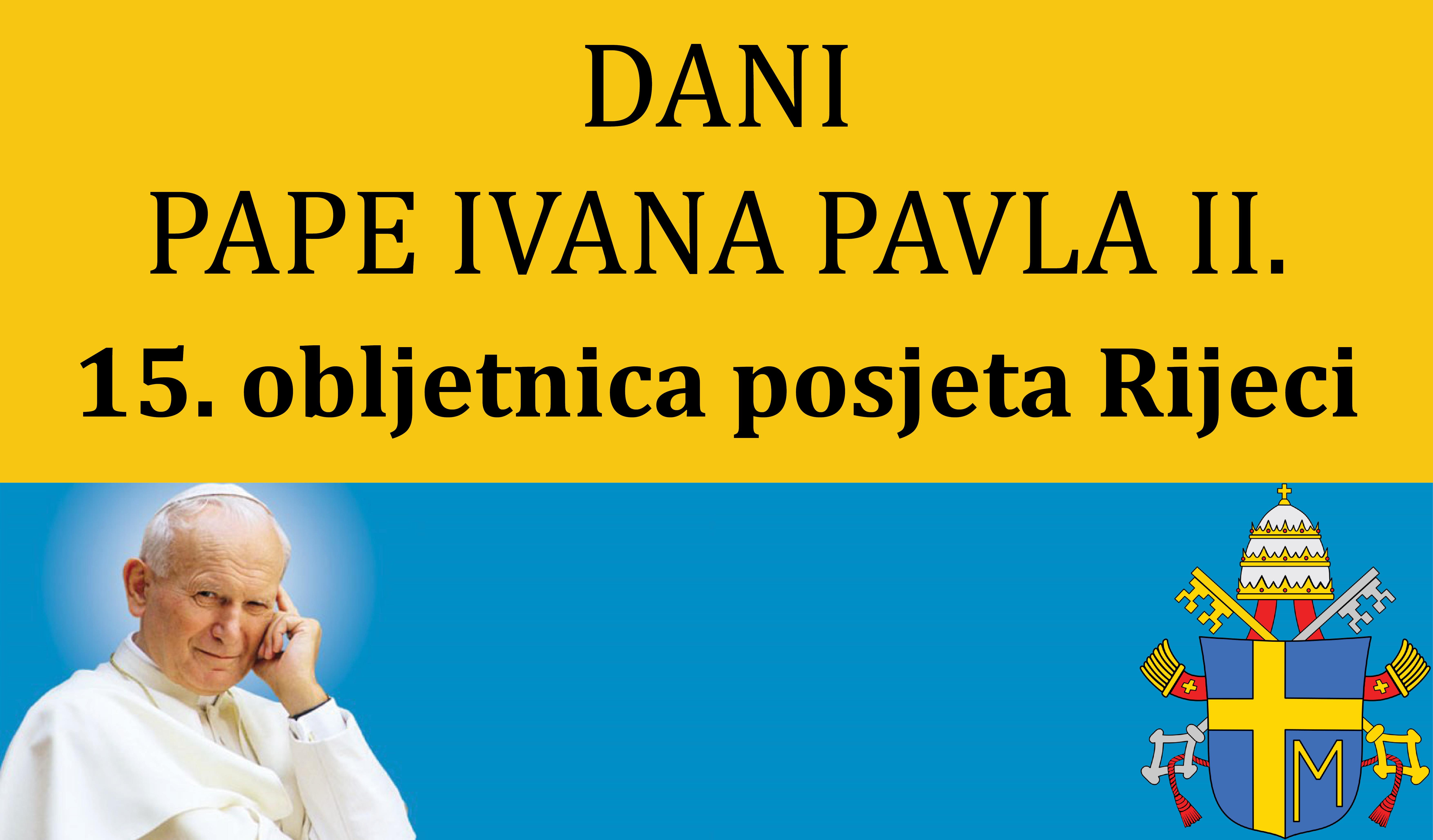 15. obljetnica posjeta pape Ivana Pavla II Trsatu