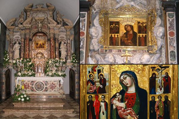 glavni oltar slika majke milosti svetiste trsat