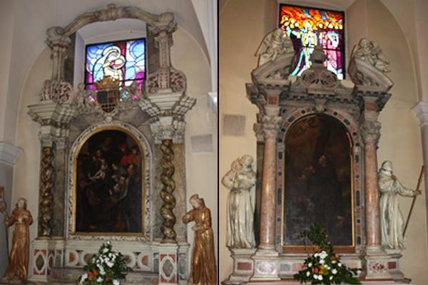 oltar svete ane i svetog franje