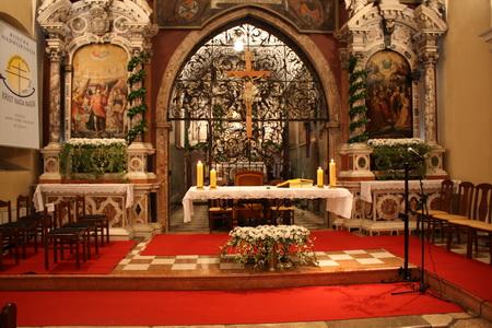 oltarni prostor svetiste majke božje marije trsat rijeka