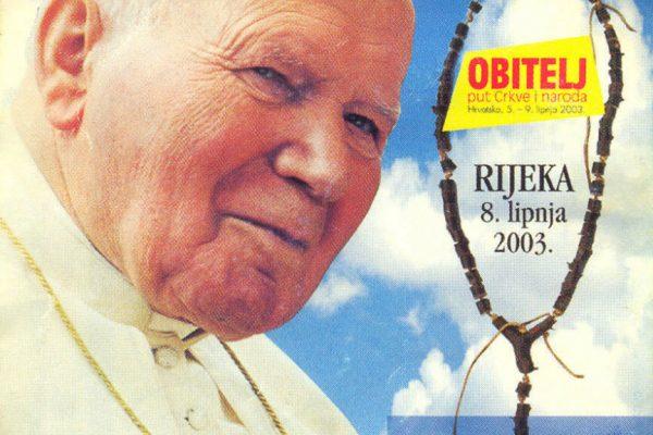 letak ivan pavao drugi svetiste trsat rijeka dolazak u rijeku 2003