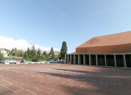 panoramski prikaz svetista trsat aula ivana pavla drugog trsat rijeka