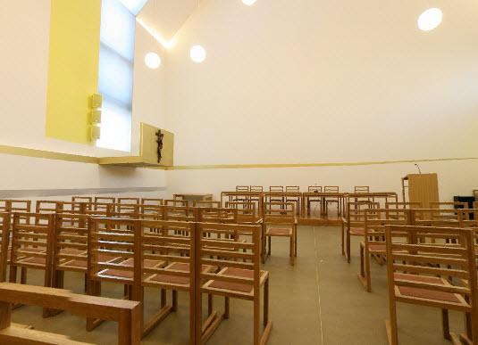 panoramski prikaz dvorana aula ivana pavla II. svetiste trsat rijeka